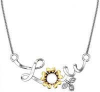 Candere Claudia Pearl Rhodium Plated 18K Pearl White Gold Pendant