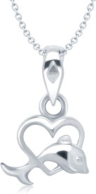Vina Fashion Jewellery Rhodium Alloy Pendant