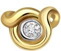 Surat Diamond Heart Yellow Gold 18K Yellow Gold Plated Pendant - PELDU833CHHR9KMF