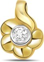 Surat Diamond Solitaire Yellow Gold 18K Yellow Gold Plated Pendant - PELDU833KZBGPKQB