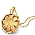 BlueStone The Amrutha Lakshmi Yellow Gold Pendant