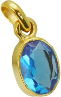 Riyo Fairstar Blue Topaz Cz Pendant Yellow Gold Cubic Zirconia Copper Pendant