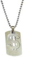 Men Style Doller Sign Plated Necklace Stainless Steel Pendant Set