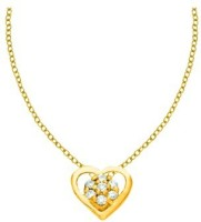 His & Her HHPXP8814_Y 18kt Diamond Yellow Gold Pendant