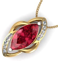 Arkina Diamonds Red Magicc 18kt Yellow Gold Pendant