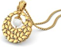 BlueStone The Grecian Leaf Yellow Gold Pendant