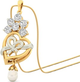 WearYourShine by PCJ The Christmassy Heart 18kt Diamond Yellow Gold Pendant