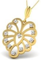 His & Her Love Forever 18kt Diamond Yellow Gold Pendant - PELECK5HFNUGRNNM