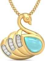 BlueStone Courtly Cygnet For Kids 18kt Diamond, Topaz Yellow Gold Pendant