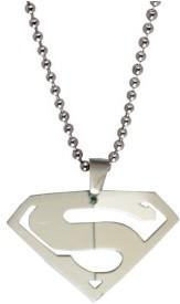 Men Style Superman NAK Stainless Steel Pendant Set