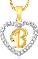 Meenaz Krishna God Pendant With Chain Brass Cubic Zirconia, Crystal Alloy Pendant