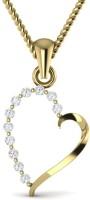 Ciemme 18K Yellow Gold Plated Cubic Zirconia Sterling Silver Pendant - PELE7VEYKWSJ9PYH