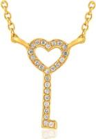 His & Her HHP8295_Y 18kt Diamond Yellow Gold Pendant
