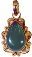 Riyo Looker Green Onyx Pendant Yellow Gold Plated Onyx Copper Pendant