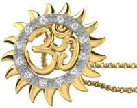His & Her Love Forever 18kt Diamond Yellow Gold Pendant - PELECK5HZTHQZQUG