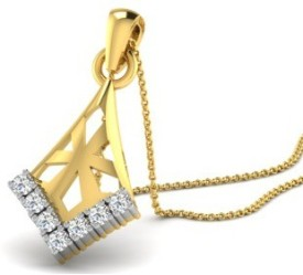 His & Her Love Forever 18kt Diamond Yellow Gold Pendant