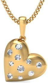 BlueStone The Glitzy Love Yellow Gold Pendant
