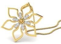 His & Her Love Forever 18kt Diamond Yellow Gold Pendant - PELECK5HY6XAZRXC