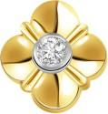Surat Diamond Flower Shape Solitaire Yellow Gold 18K Yellow Gold Plated Pendant