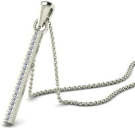 His & Her Beautiful Sterling Silver Diamond Sterling Silver Pendant