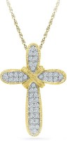 Radiant Bay Medieval Cross 18K Diamond Yellow Gold Pendant