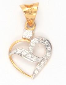 Bhurmal Aidanmal Jewellers Love Forever 18K Cubic Zirconia Gold Pendant