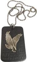 Ammvi Creations Proud Hawk Alloy & Leather Pendant With Beaded Ball Chain For Men Alloy Pendant
