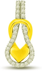 Surat Diamond 18K Diamond Yellow Gold Pendant