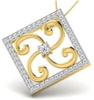 His & Her Love Forever 18kt Diamond Yellow Gold Pendant - PELECK5HMN6HUTKG