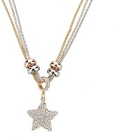 Wearyourfashion Star Yellow Gold, Rose Gold, Rhodium Crystal Alloy Pendant