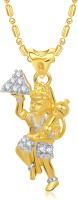 VK Jewels The Jai Hanuman 18K Yellow Gold Plated Cubic Zirconia Alloy Pendant