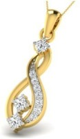 His & Her Love Forever 18kt Diamond Yellow Gold Pendant - PELECK5HGBHQHUGF