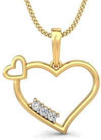 JewelsNext Love Forever 18kt Diamond Yellow Gold Pendant