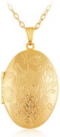 Via Mazzini Oval Photo Locket Pendant (NK0395) 18K Yellow Gold Metal