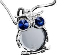 GirlZ! Crystal Rhinestone Owl Long Alloy Pendant
