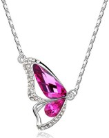 Crunchy Fashion Butterfly Rhodium Plated Alloy Pendant