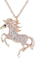 Cinderella Collection By Shining Diva Glittery Horse Alloy Pendant