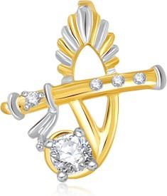 VK Jewels The Bansuri 18K Yellow Gold Cubic Zirconia Alloy Pendant