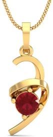 Stylori Ballet Ribbon 18kt Ruby Yellow Gold Pendant