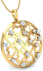 Aurobliss.com 18K Yellow Gold Plated Cubic Zirconia Yellow Gold Pendant