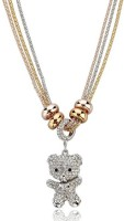 Wearyourfashion Teddy Yellow Gold, Rose Gold, Rhodium Crystal Alloy Pendant