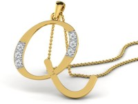 Full Cut Diamond Love Forever 18K Yellow Gold Plated 18K Diamond Gold Pendant - PELEBFM2YADDTYPQ