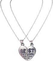 Men Style Fashion Best Friend Forever Friendship Broken Heart-Shaped Necklaces 2 Parts Necklace For Best Friends Gift Zinc