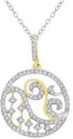 His & Her Love Forever 18kt Diamond White Gold Pendant