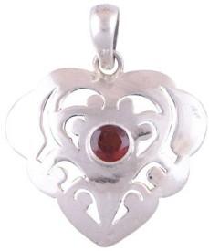 Silver Prince Love Forever Garnet Silver Pendant