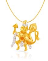Mahi 24K Yellow Gold Plated Cubic Zirconia Brass, Alloy Pendant