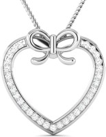 Vijisan 0.47 Ct. Promise Lovely Heart Ladies White Gold Cubic Zirconia Sterling Silver Pendant