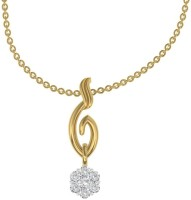 TBZTheOriginal Daily Wear Solitaire Look Alike Pendant With 0.21cts Diamonds 18kt Diamond Yellow Gold