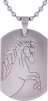 Suvarna Metal Horse Sterling Silver Stainless Steel Pendant