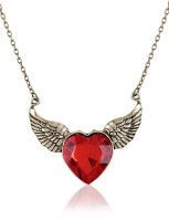Cinderella Collection By Shining Diva Heart & Wings Alloy Pendant